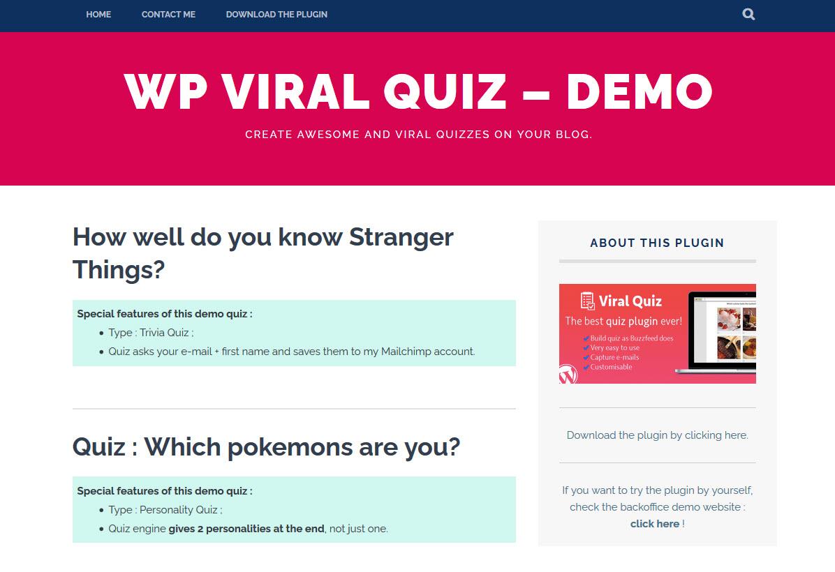 BuzzFeed Quiz Bulder Best Online Exam WordPress Plugins of 2020