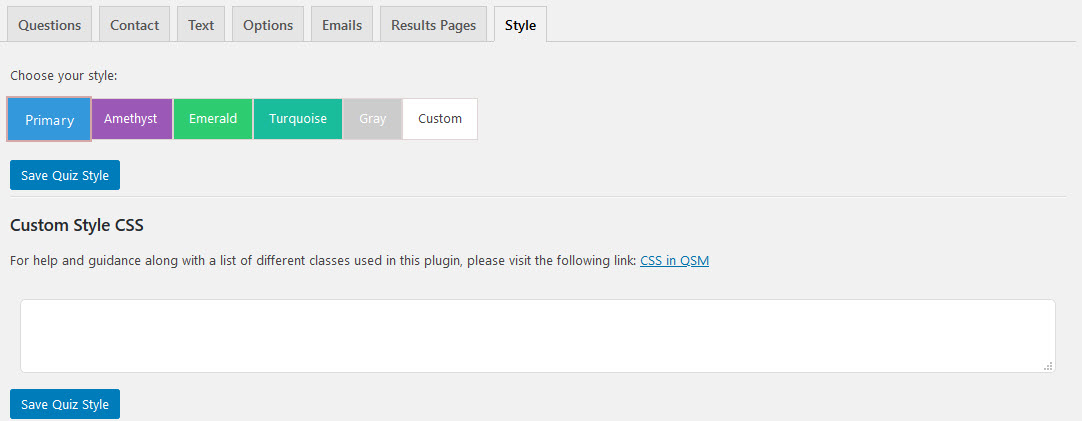 Create a Survey in WordPress - Configuring Styles Tab- QSM Plugin