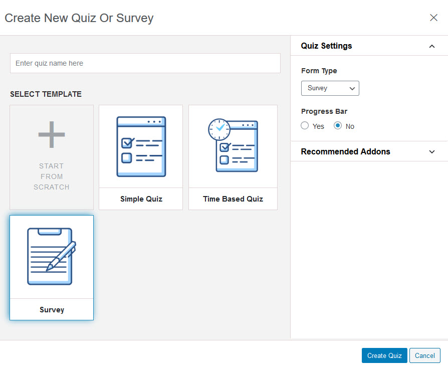 Create a Survey in WordPress - Create New Quiz or Survey - QSM Plugin