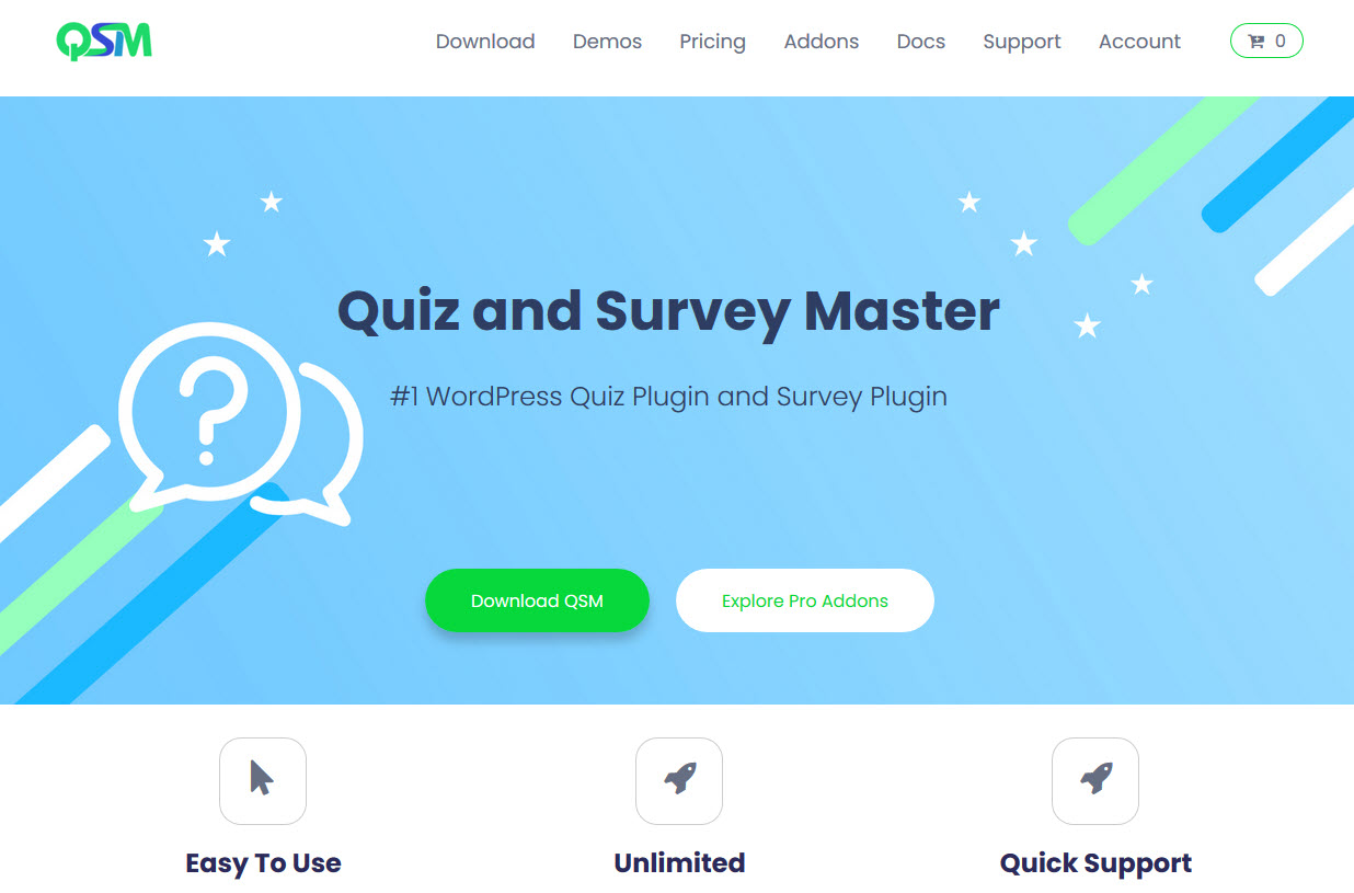 Looking for Questionnaire Plugin for WordPress - Quiz and Survey Master