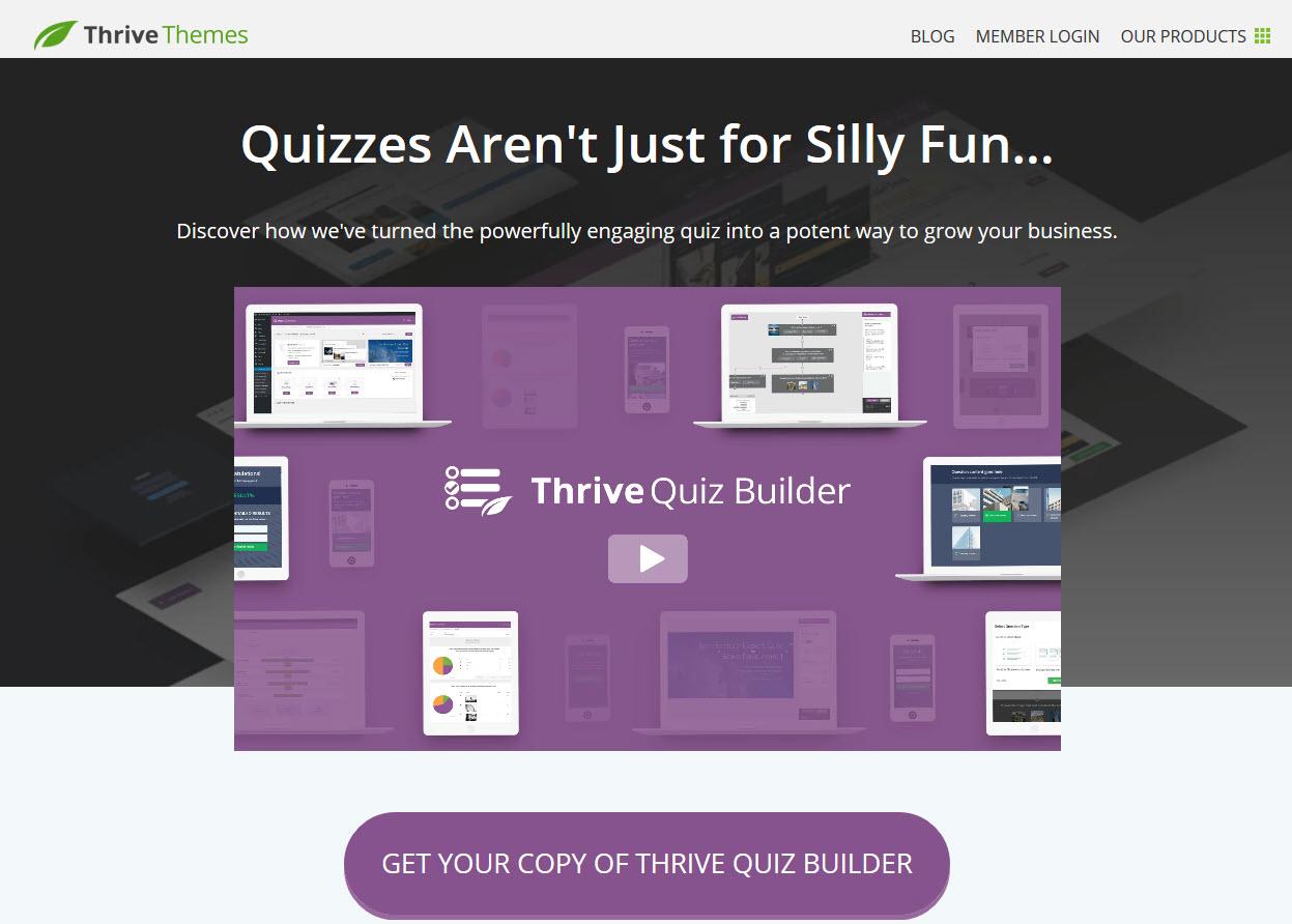 Thrive Quiz Builder Best Online Exam WordPress Plugins of 2020
