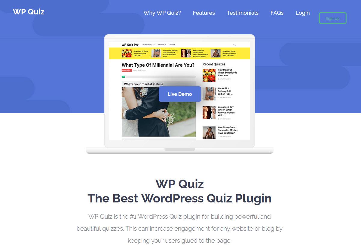 WP Quiz Best Online Exam WordPress Plugins of 2020
