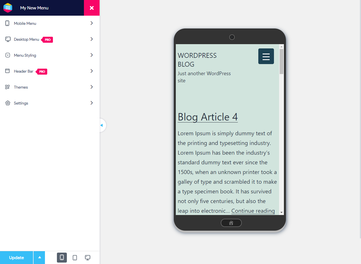 Best way to make a website responsive - Customize the Mobile Menu