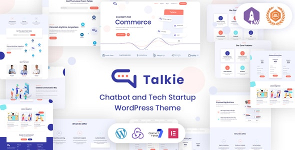 This image has an empty alt attribute; its file name is Talkie-Chatbot-and-Tech-Startup-WordPress-Theme-BrandExponents.jpg